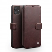 QIALINO Leather Wallet Phone Cover Case for iPhone 11 6.1-inch - Coffee