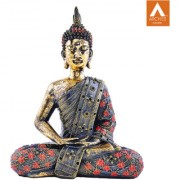 Archies Dhyana Mudra Multicolored polyresin decor standing Buddha showpiece
