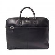 Rizzo Paul Slim briefcase, portfölj i skinn, Svart