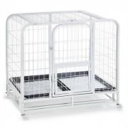 OneConcept Cage grillagée pour chiens 104x78x102cm bac en PVC - métal