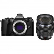 Olympus OM-D E-M5 Mark II Aparat Foto Mirrorless 16MP MFT Full HD Kit cu Obiectiv 12-40mm F2.8 Negru