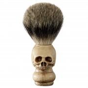 Collin Rowe Blaireau en véritables poils naturels et manche en forme de crâne