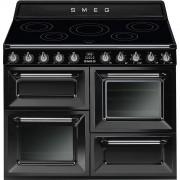 Smeg TR4110IBL Cocina Serie Victoria 110cm Color Negro Antracita 2 Hornos Eléctricos 5 Encimeras de Inducción