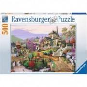 RAVENSBURGER puzzle (slagalice) - kuća na brdu RA14806