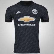 adidas Camisa Manchester United II 17/18 adidas - Masculina - PRETO/BRANCO