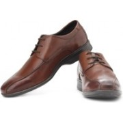 Clarks Gadwell Over Genuine Leather Lace Up Shoes For Men(Brown)