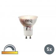 LUEDD Set of 5 GU10 LED 5W 360LM 2000K-2700K Dimmable