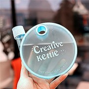 Skywalk Portable Reusable Creative Kettle Bottle For Travel And Office Use 350 ml water bottle for kids sports gym purpose(Color-Blue)