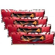 Memorija G.Skill 32 GB Kit (4x8 GB) DDR4 2400 MHz Ripjaws 4, F4-2400C15Q-32GRR