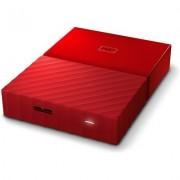 Портативен външен диск WD My Passport 4TB, Red - WDBYFT0040BRD