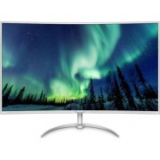 Monitor curbat LED VA Philips 40'', 4K Ultra HD, VGA, DVI, DisplayPort, BDM4037UW/00, Gri/Alb