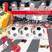 Smoby - palline in plastica 3pz mod. pallone calcio per calciobalilla