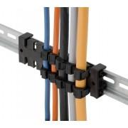 Bloc de detensionare cabluri, montare pe șină DIN 35 mm, poliamidă, negru, Icotek ZL 140