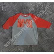 Animal raglan 3/4 Sleeves Red-grey