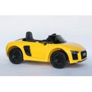 Audi R8 Spyder Licencirani Auto na akumulator sa kožnim sedištem i mekim gumama - Žuti ( Audi R8-1 )