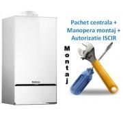 Pachet centrala condensatie Buderus Logamax Plus Gb 172i K - 30 KW alba cu manopera montaj si autorizare ISCIR