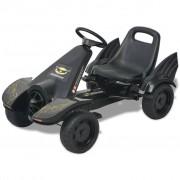 vidaXL Go Kart sa Pedalama i Podesivim Sjedalom Crni