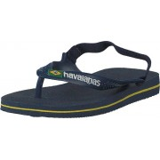 Havaianas Baby Brasil Logo Ii Navy Blue/citrus Yellow, Skor, Sandaler & Tofflor, Flip Flops, Blå, Barn, 22