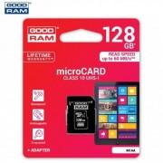 MEMÓRIA KÁRTYA TransFlash 128 GB - microSDXC, Class 10, UHS-i 1, SD adapter - GOODRAM