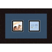 ArtToFrames Art to Frames Double-Multimat-42-837/89-FRBW26061 Collage Frame Photo Mat Double Mat with 2-3x3 Openings and Espresso Frame
