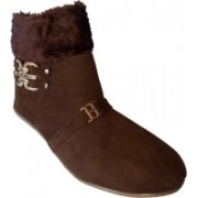 RJ India HarmanCoffee Boot Boots For Women(Brown)