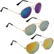 Phenomenal Oval Sunglasses(Blue, Green, Yellow)