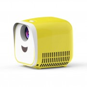L1 Kids Mini Projector Support Full HD 1080P Children Early Education Projector - White/US Plug