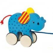 Детска дървена играчка за дърпане, Слонче, Goki, 871017