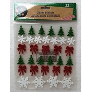 Christmas Holiday Snowflake Tree Reindeer Glitter Winter Craft Home Decor Decoration Decorations Stickers Bow