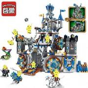 Enlighten Large Castle War of Glory 2 in 1 The Battle Bunker 9 Figures 1541pcs Hawk Knight Building Block - Without Original Box
