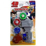 StyloHub Toy vala 3 in 1 Beyblades 4D/5D System Metal Fighters Fury with Metal Fight Ring and Handle Launcher Toy - Multicolor (C
