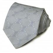 Серый галстук с крупным лого бренда Celine 825988