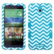 Funda Protector Triple Layer HTC One Desire 510 Blanco / Aqua Zic Zac