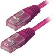 Kabel mrežni Transmedia Cat.5e UTP 15m, ljubičasti