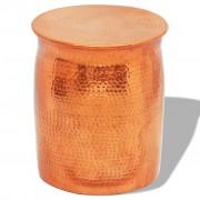 vidaXL Кована алуминиева табуретка/странична маса, месинг/меден цвят