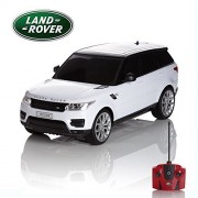 CMJ RC Cars Range Rover Sport Official Licensed Remote Control Car for Kids with Working Lights, Electric Radio Controlled on Road 1: 24 Model, 27Mhz White, Great Toy Girls and Boys
