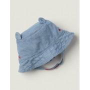 Boden Blau Webhut aus Denim Baby Baby Boden, 92-104, Blue