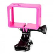 Camara Marco Holder + J-Base para SJ4000 SJCAM / SJ6000 - de color rosa oscuro