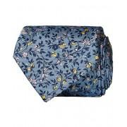 Etro Woven Flowers 8 cm Silk Tie Light Blue