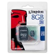 Micro SD Kingston SD 8GB MicroSDHC Class 4 + adapter (SDC4/8GB)