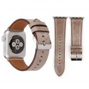 Voor Apple Watch serie 3 & 2 & 1 42mm frisse stijl Wrist Watch lederen Band (bruin)