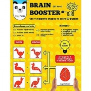 Play Panda Brain Booster Set Three Having 50+ Puzzles To Be Solved Using 9 Different Magnetic Shapes For Boys & Girls Ages 6 - 99