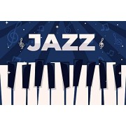 Zhyxia Zhy Jazz Backdrop for Photography Music Party Background 7X5FT Party Decor Supplies Photo Shooting Props 04