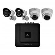 Kit Cctv Video Vigilancia 4 Cámaras Ahd Alta Definición 720p Dvr Seguridad Circuito Cerrado