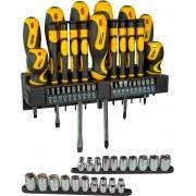 Stanley 0.62.143 Set Cacciavite Giravite + Inserti + Bussole Confezione Da 57 Pezzi - 0.62.143