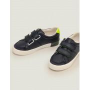 Mini Navy Niedrige Sneaker aus Leder Jungen Boden, 27, Navy