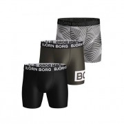 Björn Borg Performance Shorts Forest Night 3-pack L