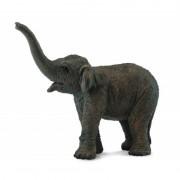 Figurina pui de Elefant asiatic S Collecta, 7.5 x 6 cm