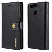 Huawei P9 Dg.Ming 2-in-1 Wallet Case - Black