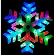 Ornament fulg nea cu leduri multicolore